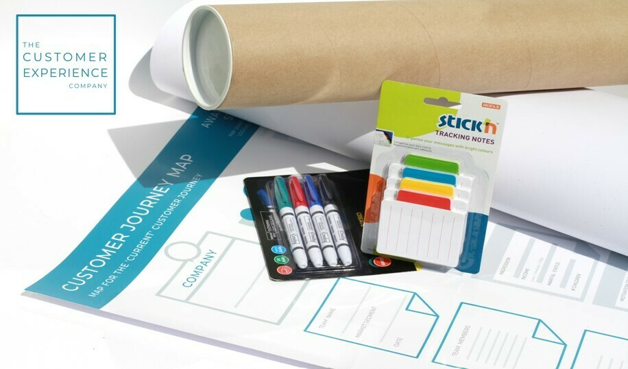 Customer Journey Map Kits x 2 - To map Current Journey for 16 people in 2 teams (excl Vat)