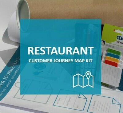 RESTAURANT - Customer Journey Map Kit to map current restaurant journey (excl Vat)