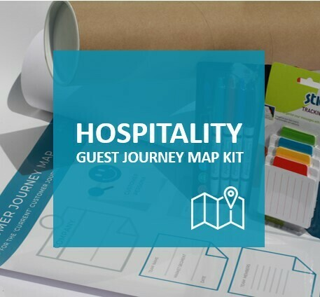 HOSPITALITY - Guest Journey Map training kit to map current guest journey (excl Vat)
