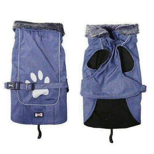 Puffer Extreme Dog Coat XXXL Blue - 70 CM - Chest - 78-103 CM