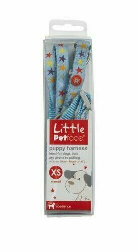 LITTLE PETFACE DOG HARNESS EXTRA SMALL BLUE FITS CHEST SIZE 30 CM - 46 CM.