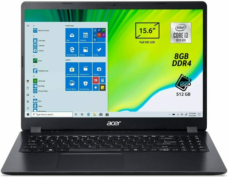 Acer Aspire 3 A315-56-35MW Notebook i3-1005G1/8GB/SSD 512GB/15.6 FHD/Win 10