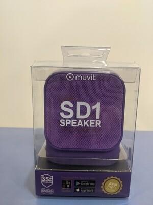 Altoparlante wireless Muvit SD1 3W in tessuto viola