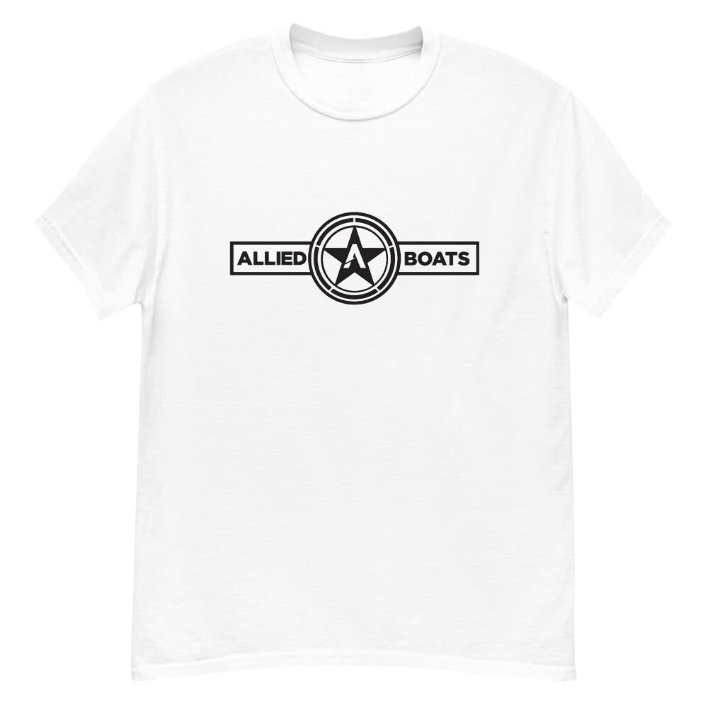 Allied Boats Men's One Color Black Logo HW Tee