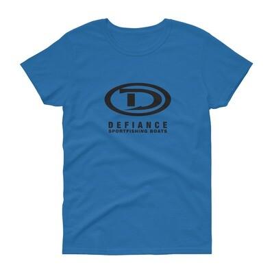 Defiance Boats Womens Black Logo Tee