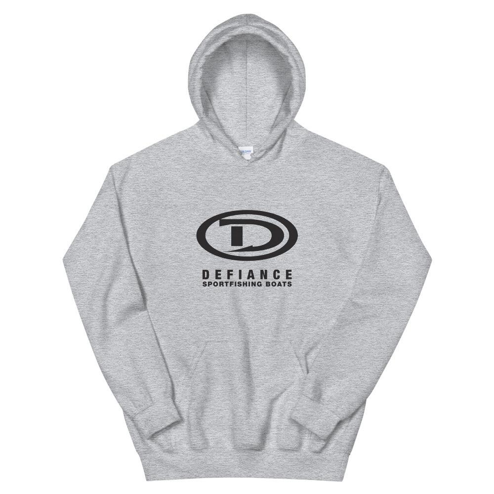 Defiance Boats Unisex Black Logo Hoody