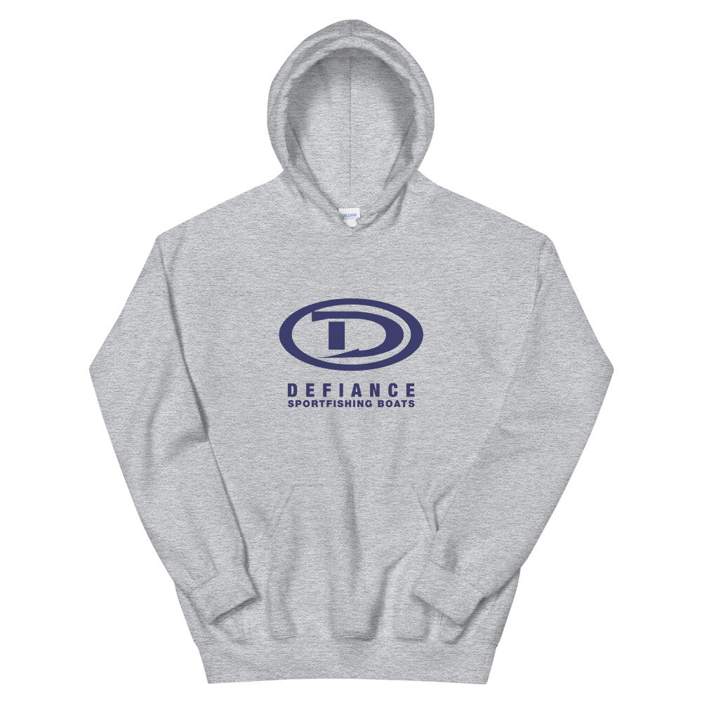 Defiance Boats Unisex Blue Logo Hoody