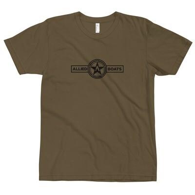 Allied Boats Men's Black Logo Tee