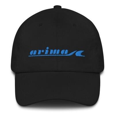 Arima Boats Blue Retro Logo Classic Dad Hat