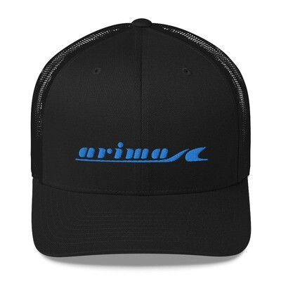 Arima Boats Retro Blue Logo Classic Trucker Hat