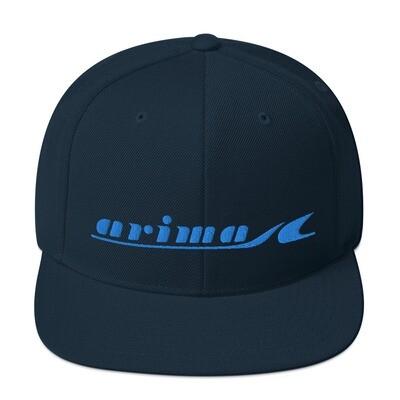 Arima Boats Retro Blue Logo Snapback Hat