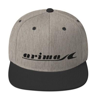 Arima Boats Retro Black Logo Snapback Hat