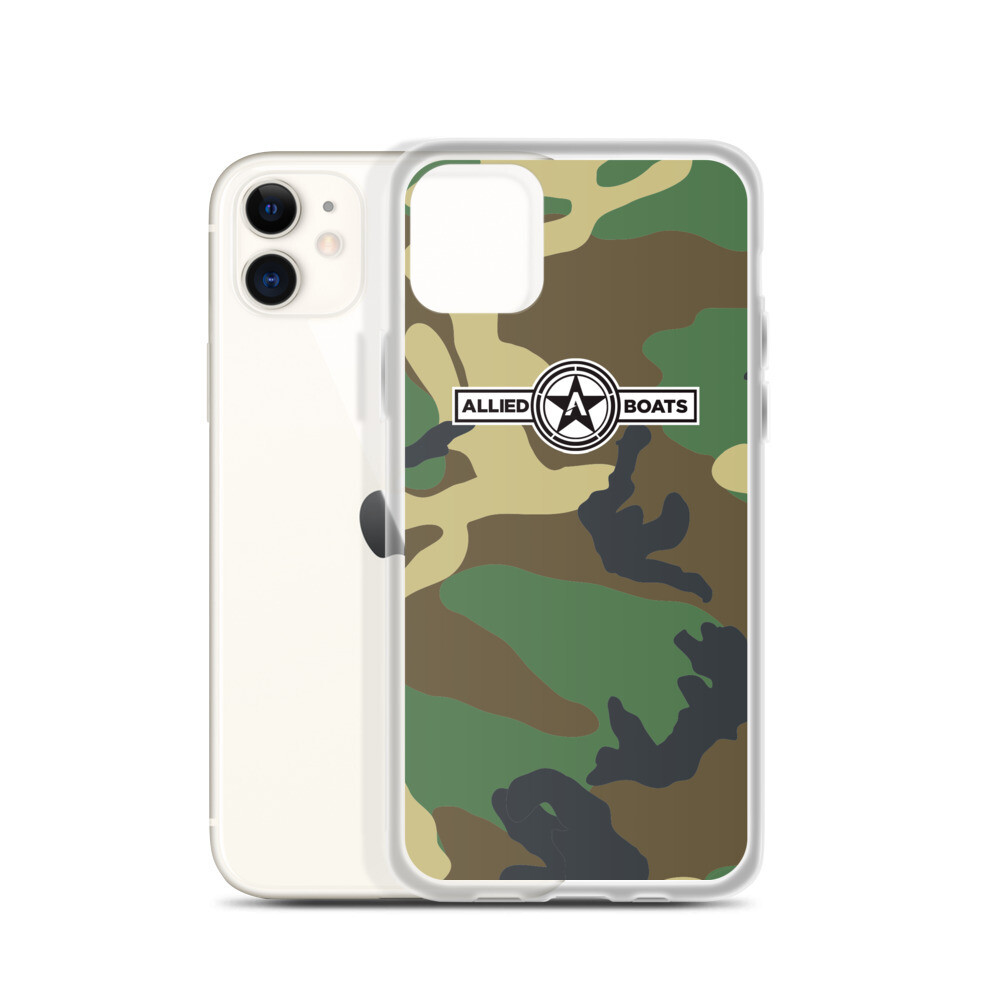 Allied Boats Woodland Camo iPhone Case