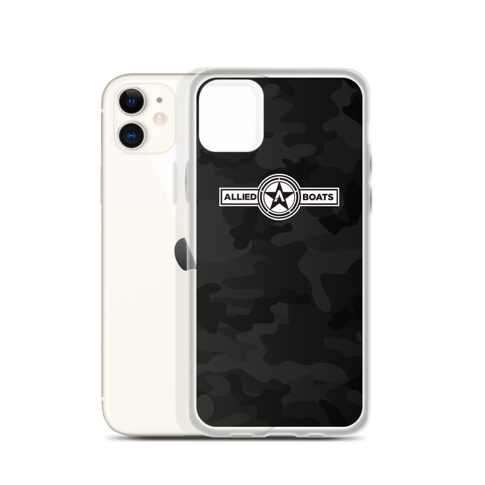 Allied Boats Black Camo iPhone Case