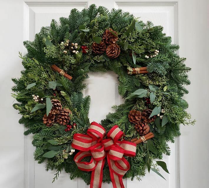 Fresh double balsam evergreen wreath - 26