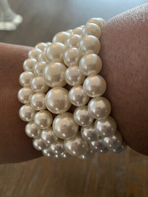 Stacked Pearl Bracelets