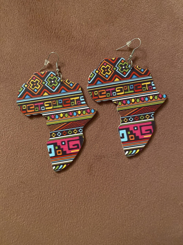 Tribal Africa Multi Color Earrings