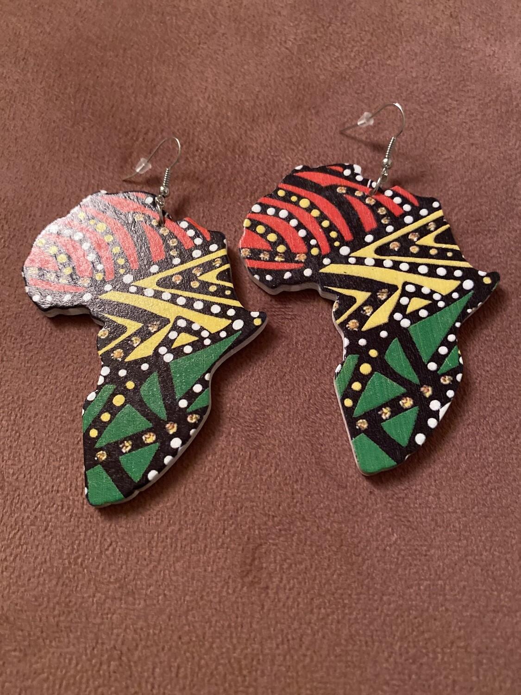 Tribal Africa Dot Color Earrings