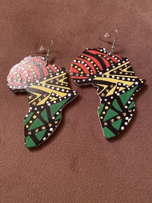 Tribal Africa Dot Color Earrings