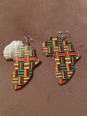 Tribal Africa Kente Color Earrings
