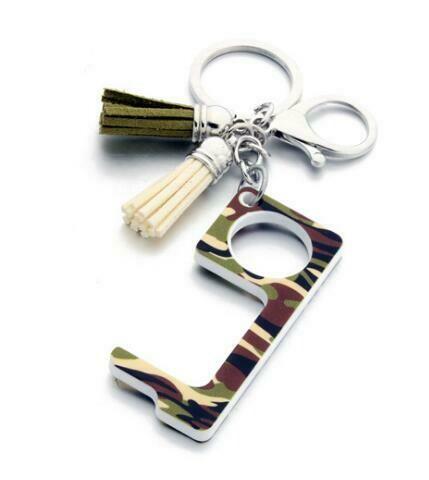 Fatigue Print Touchless Door Opener w/Tassel keychain