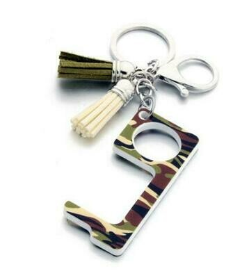 Fatigue Print Touchless Door Opener w/Tassel keychain