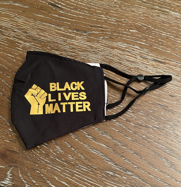 Black lives Matter Mask Black/Gold