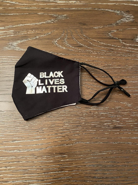 Black lives Matter Mask Black/Silver