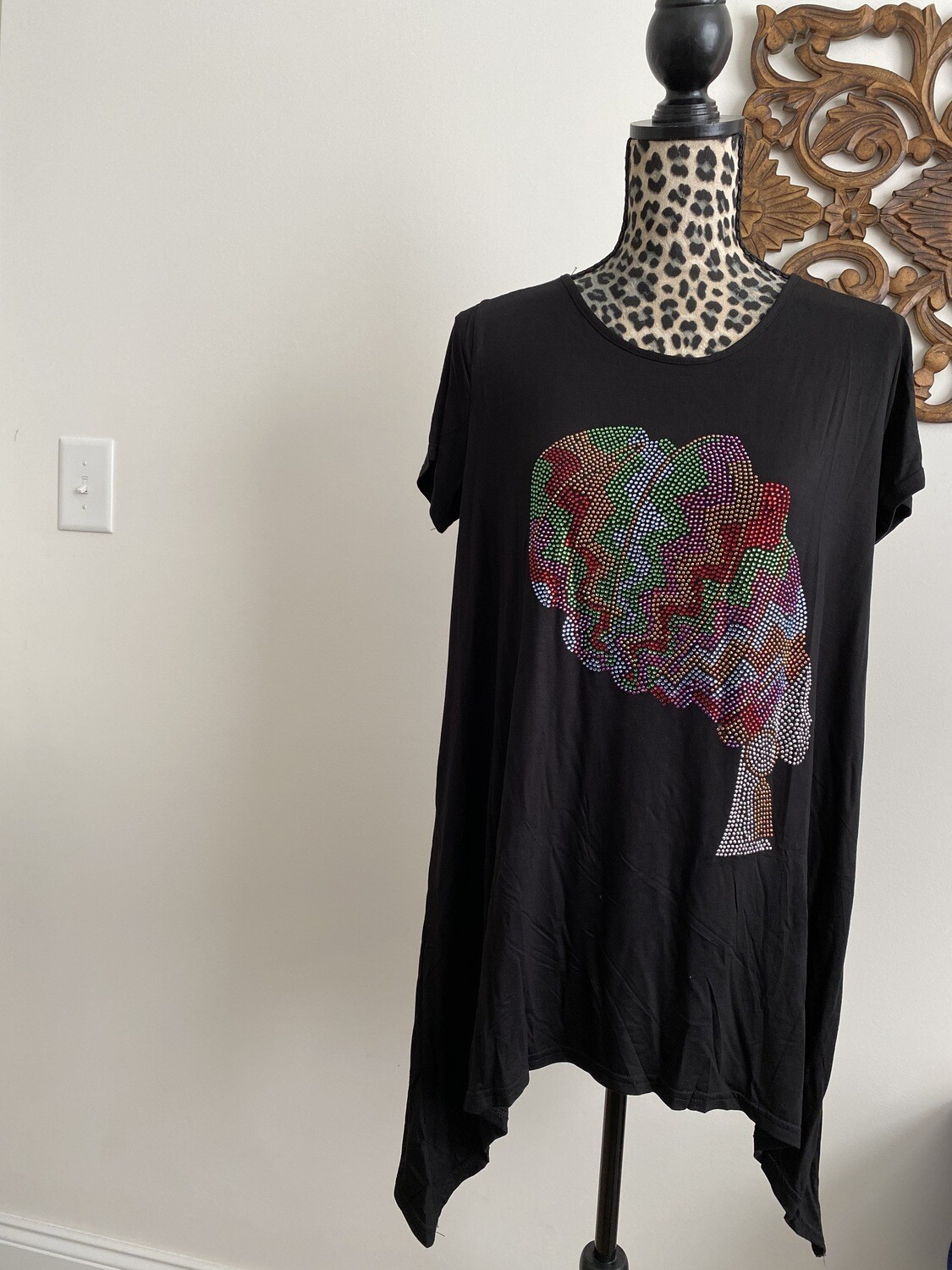 Natural Queen Bling - Multi-Color - T- Shirt
