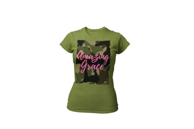 Amazing Grace Women's Tee | Fatigue | Olive T-Shirt