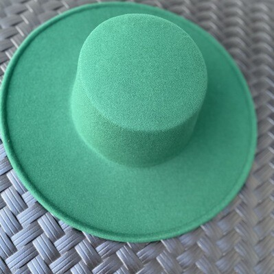 Flat Top Hat - Wide Brim Envy Green