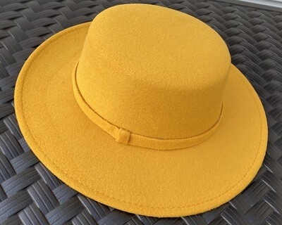 Flat Top Brim Hat - Must Have Mustard
