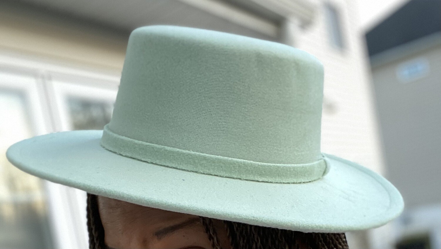 Flat Top Brim Hat - Marvelous Mint Green