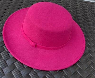 Flat Top Brim Hat - Perfect Hot Pink