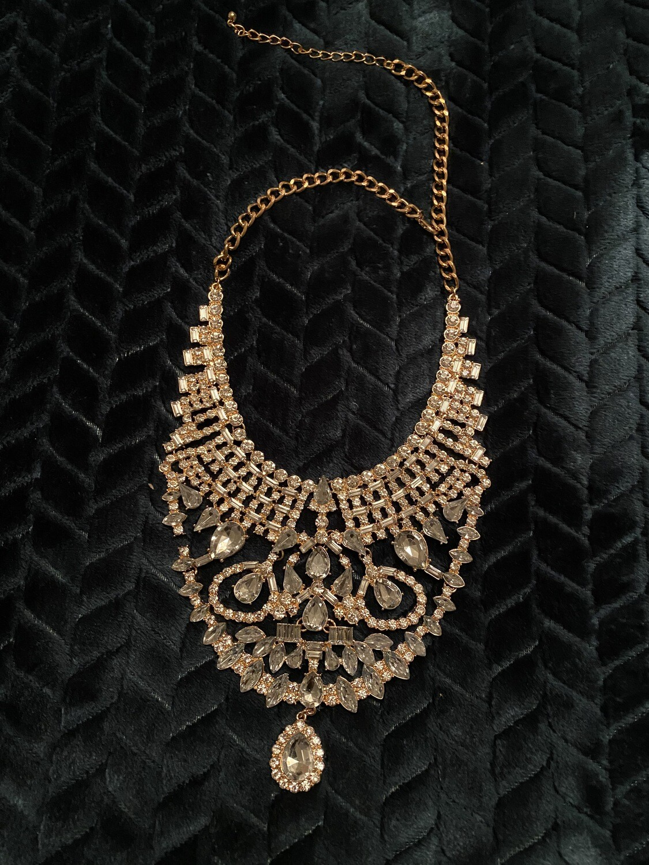 Crystal BIB Bling Necklace