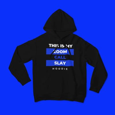 Zoom Slay Hoodie Blue & White | Black