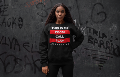 Zoom Slay Sweatshirt Red & White | Black