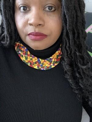 Braided Fabric Pattern Bib Necklace | Jewelry | Birthday Gifts|
