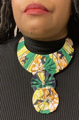 African Style Pattern Fabric Bib Necklace | Jewelry | Birthday Gifts|