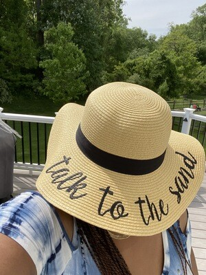Embroidery Straw Floppy Sun Hat    Trendy Accessories   Unique Gifts   Stylish Hats   Mother's Day Gifts