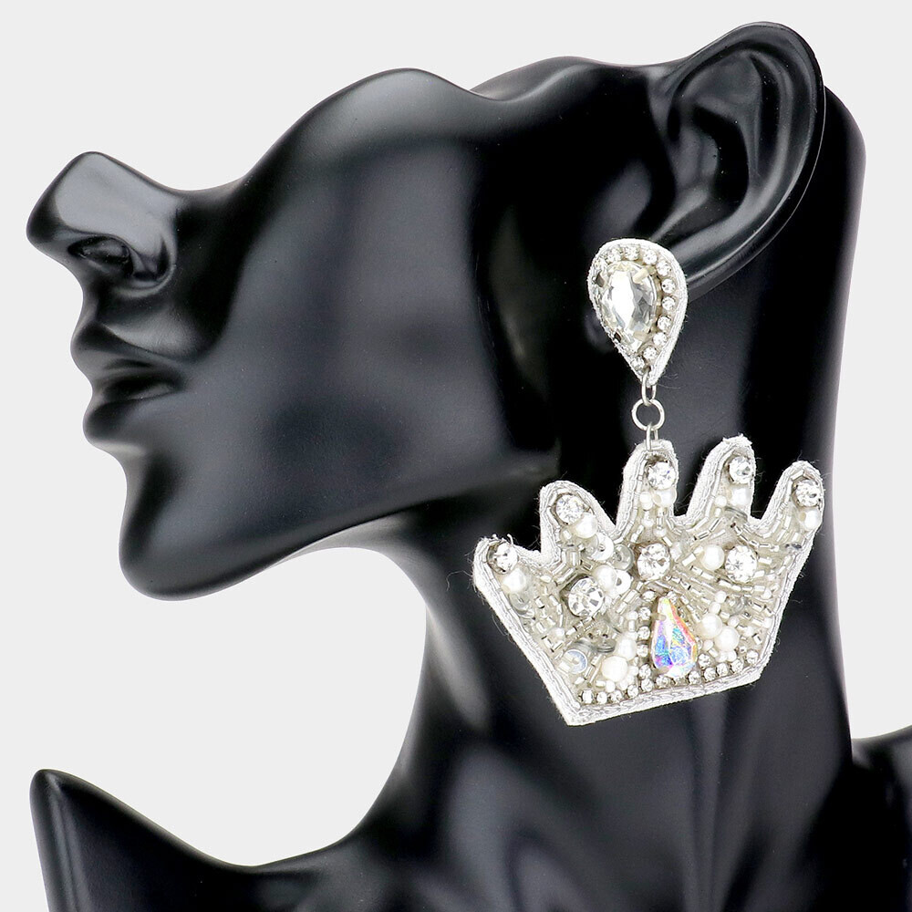 Crown Earrings   Trendy Accessories   Bling Jewelry   Unique Gifts