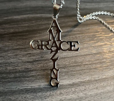 Amazing Grace Necklace   Jewelry  Birthday Gifts  Christmas Gifts   Unique Statement Jewelry Silver