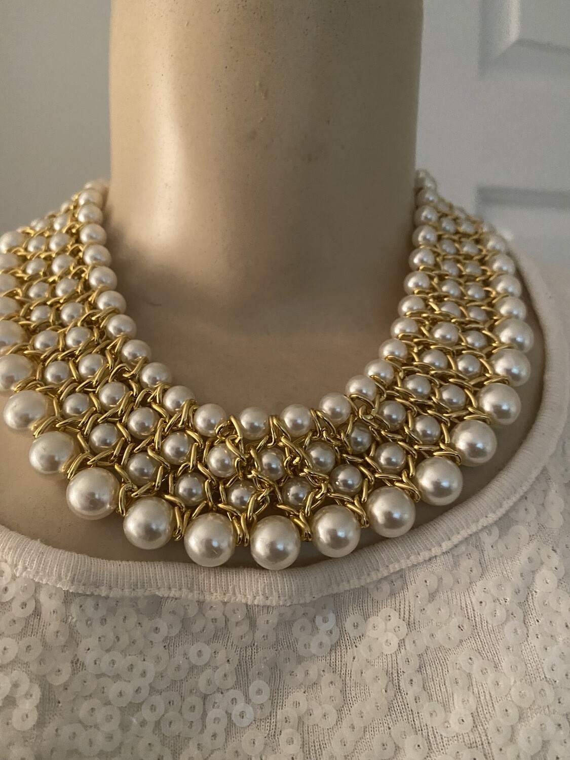 Pearl Statement BIB Necklace   Drop Earrings  Jewelry  Birthday Gifts  Mother's Day Gifts   Christmas gifts