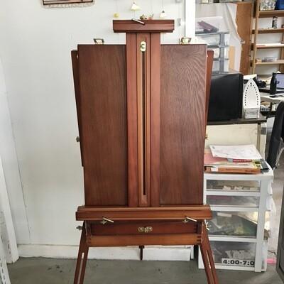 MC11701 Wooden Artist Standing Easel w/ Paints