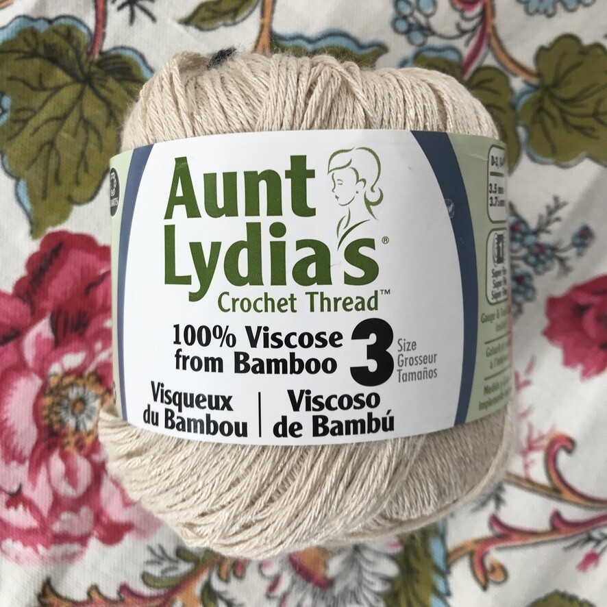 100% Bamboo Crochet Thread Size 3