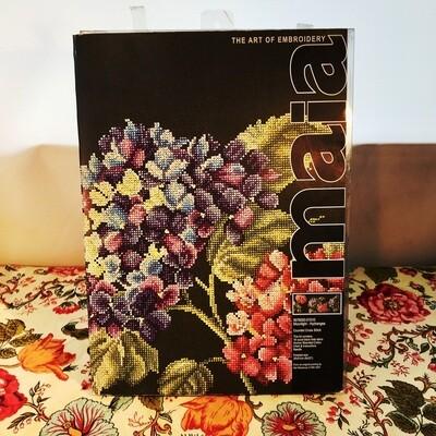 Maia Embroidery Kit, Moonlight-Hydrangea