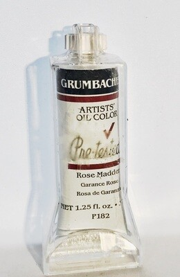Grumbacher Pre-Tested Artists Oil Colors Rose Madder Hue P182 1.25 Oz.