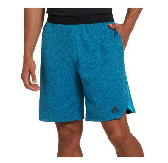 ADIDAS AXIS KNIT TRAINING SHORTS HEATHER TEAL