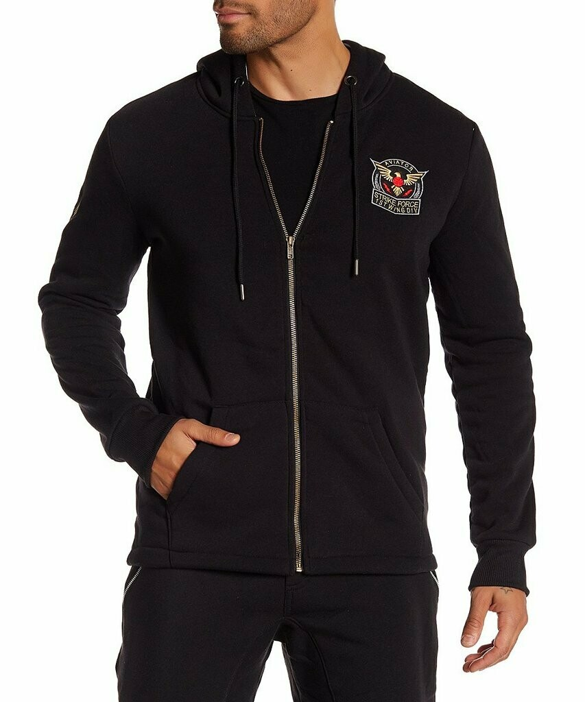 TAILORED RECREATION PREMIUM BLACK HOODIE WITH ZIPPER