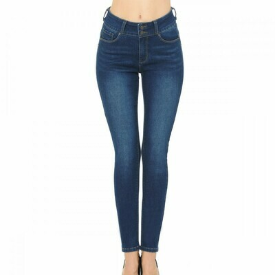 BLUE JEAN DARK PUSH-UP HIGH-RISE CLASSIC 5 POCKET SKINNY W/ TRUE STRETCH (STYLE 90700)